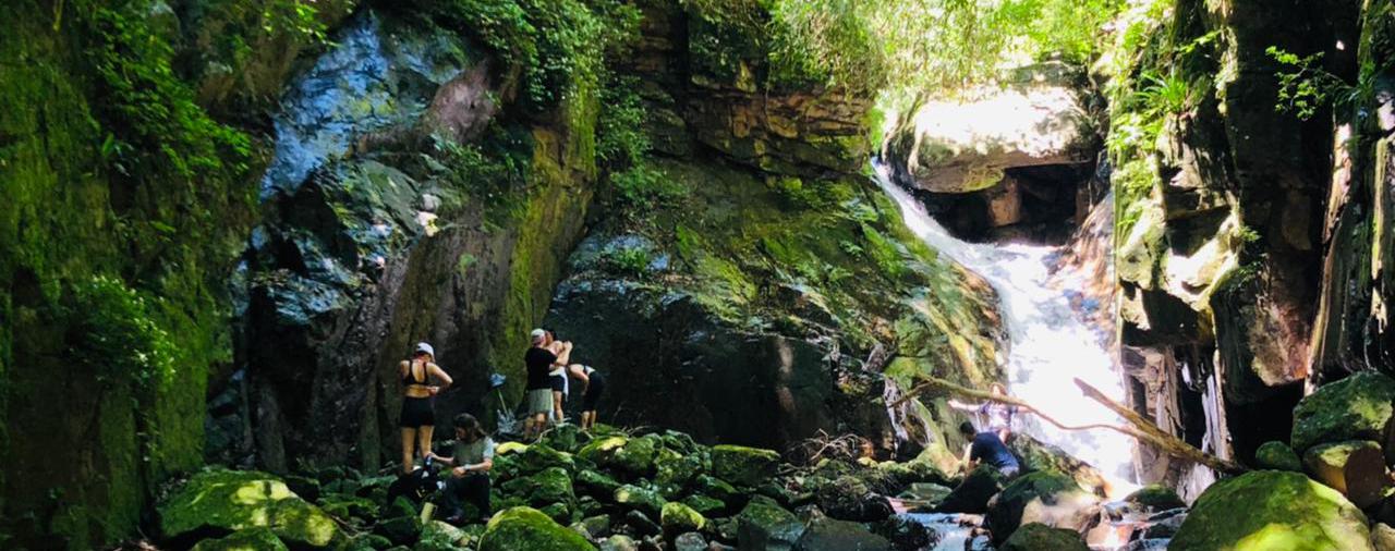 Aquatrekking no Canion Rio Foturna em Timbé do Sul SC
